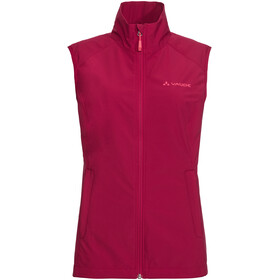 VAUDE Hurricane III bodywarmer Dames, crimson red